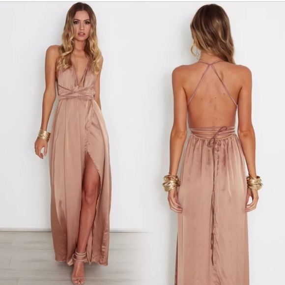 6162dba0d5f Whitefox Boutique  Akela  Maxi Dress Bronze